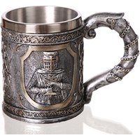 3D Personalized Warrior Beer Mug Original Cool Mug Unique Knight Cup for Beer Coffee Drinking Gift for Men Father Mug