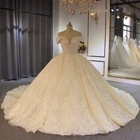 robe mariage Amanda Novias Off The Shoulder Ball Gown Wedding Dress Luxury 2019