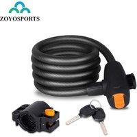ZOYOSPORTS High Security Folding Mountain Road Bike Cable Lock  Anti-Theft Steel Wirerope Bicycle Lock