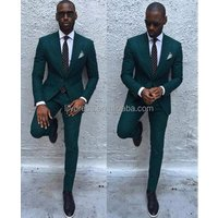 Wedding Suits Design Formal Slim Fit Tailored Mans Wedding Suits Sets (Jacket+Pants+Bow) WS222 Wedding Tuxedos For Men Green