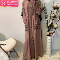 6166# summer casual full sleeves plus size long maxi turkish embroidery islamic clothing muslim modest dress turkey
