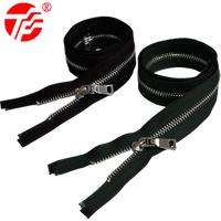 5# metal open end zipper for down jacket support custom of zipper manufacturer
