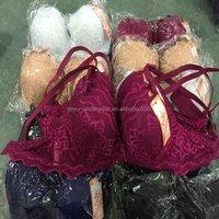 0.76USD Good Selling Lace Fllowers 6 Colors Push Up Bra /Sexy Fancy Bra Panty Set/Women Bra (kczd195)