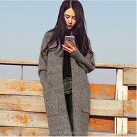 Korea long sleeves loose knitted cardigan boutique sweater jumper womens clothes clothing