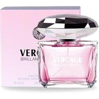100ml French Womens Fragrance Crystal Diamond Love Long Lasting Light Fresh Perfume Lady Glass Bottle OEM / ODM
