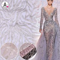 New Collections Dreamy Sparkly evening dress Sequined Lace Fabric