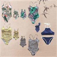 Family Matching Mom Girls Bathing Suit Mommy and Me Swimsuit Swimwear Bikini set