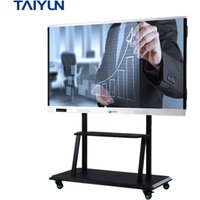 75 inch LCD display touch screen monitor interactive flat panel all in one pc
