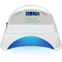 Battery working 4 Hours 64W gel uv led cordless nail lamp pro cure led nail lamp portable rechargeable