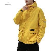 2019 hot mens bomber jackets stand collar big size zipper boy clothing top thin multi-pocket black mens coat xx