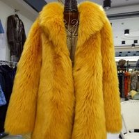 Gorgeous real fox fur coat long style coat for ladies in winter