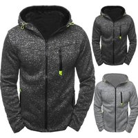 Mens Sports Leisure Cardigan Hooded Zipper Jacket