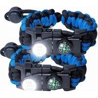'Survival 550 Paracord Bracelet Kit For Men Women Tactical Gear With Led Light Buckle Firestarter And Compass