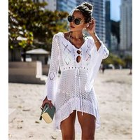 Women Bathing Suits Cover Up Ethnic Print Kaftan Beach swimming Dress