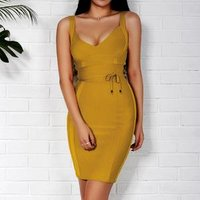 High Quality Women Celebrity Evening Party Prom Rayon Cheap Bandage Dress
