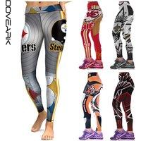 American Football Wear For Women Printed Sport Leggings