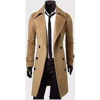 Winter  Fashion  warm handsome Trench  Overcoats  coat for men