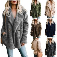 MY-229 2019 new fashion cashmere pattern faux fur jacket for women winter outwear wholesale ladies high quality brand clothing