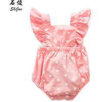 ShiJun Cotton Clothes Summer Girl Ruffle Boutique Clothing Adult Ruffled Baby Romper