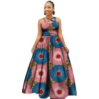 African New Design Sexy Party Evening Dresses Elegant Women African Dashiki Print Clothing for Women Africa Long Skirts WY2390