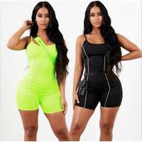 2019 Summer Women Quick Dry Yoga Set One-piece Short Sexy Yoga Jumpsuit One Piece Yoga Suit fitness clothing