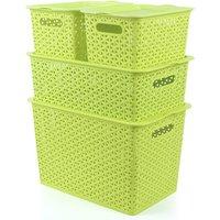 Multi-color rattan storage box plastic large storage basket kitchen vegetable finishing children storage basket