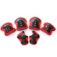 Child protective gear Child Six-piece set Knee pads guard elbow for roller ice skating