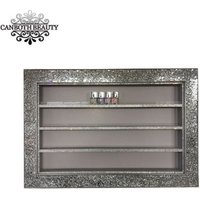 Custom Nail Varnish Display with LED light wall nail polish rack beauty salon CB-NK013