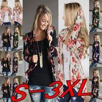 Women Cardigans New Fashion Irregular Neck Floral Print Cardigan Women Casual Plus Size Coat Tops Femme Chaqueta De Mujeres