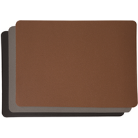 Tabletex  Double Sided PU Faux Leather Rose gold  PVC Placemats and Coaster