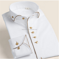 Manufacturers sale top fashion excellent quality mens formal white party dress shirts