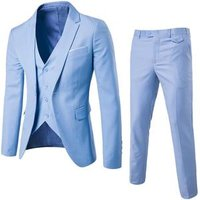 Hot Sales 9 Colors Men Slim Fit One botton Wedding Suit (Blazer+Pants+Vest) 3 Pieces Men Business Formal Suit