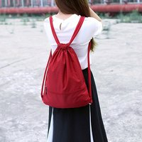 sports bag run Comfortable solid multi-function unisex waterproof drawstring gym bag