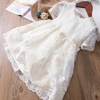 girl lace dress wedding party summer fashion girl dress cotton kids clothing boutiques children clothes wholesale lot ggt880153