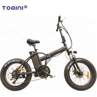 Top Rated 20 inch folding E Bikes Fat Tire Mountain Bike Aluminium Frame Electric Bicycle