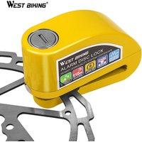 WEST BIKING 110DB Bike Alarm Lock Bicycle Anti-theft Alarm Waterproof Wheel Disc Brake Security Safety Siren Lock Bicycle Lock