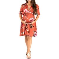 European fashion summer sexy pregnant women clothing flora print short maternity dress