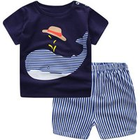 S63160B Baby Boys Summer Clothing Sets Clothes Toddler Children 2pcs T-shirt Shorts