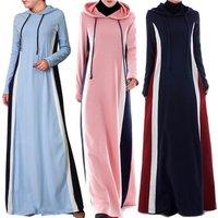Latest Design Islamic modest sport wear Sport Abaya Gym Hoodie style Soft Knit for girls Maxi Dress for spring