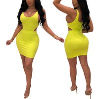 New Arrival Stylish Solid Color Sling 2 Piece Set Women Sexy Bodycon Short Dress