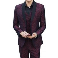 2019 new design Plus Size Men Suit with three piece in set 246022