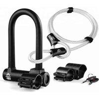 Heavy Duty Bike Locks Anti-theft Bicycle U Lock with Mount Bracketand2 Keys