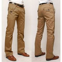 Mens Casual Slim Fit Straight Long Trousers Formal Dress Leisure Pants