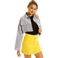 Cheap Price Apparel Overstock Wholesale Women Vintage Gray Jean Denim Bomber Jacket Ladies