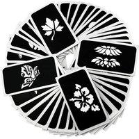 'Hot Sale Henna Sticker Tattoo Stencils Wholesale Reusable Glitter Tattoo Stencils Body Art Tattoo Stencil Paper
