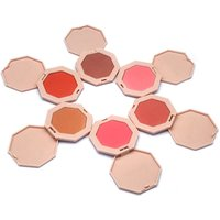 Hot Selling OEM Cosmetics Powder 6 Colors New Design Soft Nude Red Single Cheek Makeup Blusher