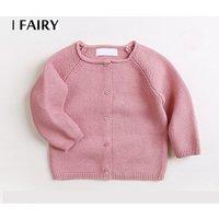 Small MOQ custom raglan sleeve button down baby knitted cardigan