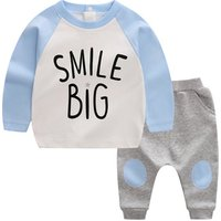 Childrens cotton spring and autumn sports suit