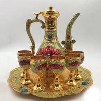 Factory Promotion Wholesale Portable Travel Custom arabic tea cup teapot gift set