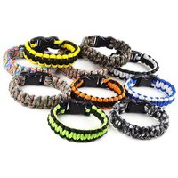 'Outdoor Survival Paracord Bracelet Hiking Gear Travelling Camping Gear Kit Equipment